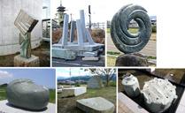 うちぬき石彫公開制作2012
